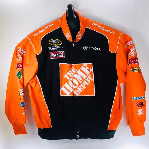 e35d7ad9 Home Depot Cotton Drivers Racing Jacket Mens XXL